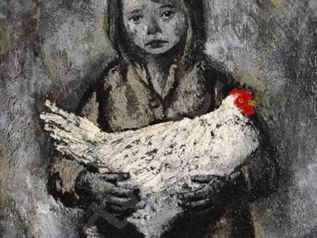 bueno-xavier-1915-1979-spain-bambina-con-gallina