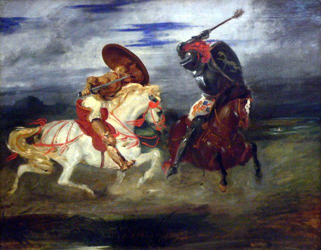 Louvre-peinture-francaise-paire-de-chevaliers-romantiques